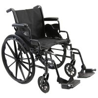 Karman Lightweight Deluxe 18 inch Steel Wheelchair with ...