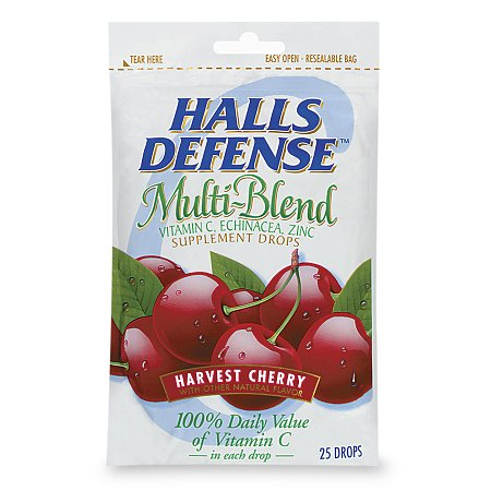 Halls Defense Multi-Blend Supplement Drops, Harvest Cherry