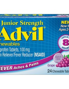 Product large image also advil junior strength fever reducer pain reliever chewable tablets rh walgreens