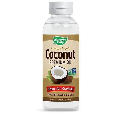 Liquid coconut oil for hair