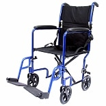 bariatric transport chair 500 lbs purple and a half chairs walgreens karman 17 inch 19 lightweight with removable footrest blue