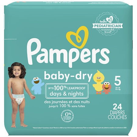 Pampers Baby Dry Diapers Size 5 Jumbo Pack Walgreens