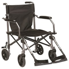 Transport Wheel Chair Ergonomics Office Drive Medical Travelite Wheelchair In A Bag Black Black1 0 Ea
