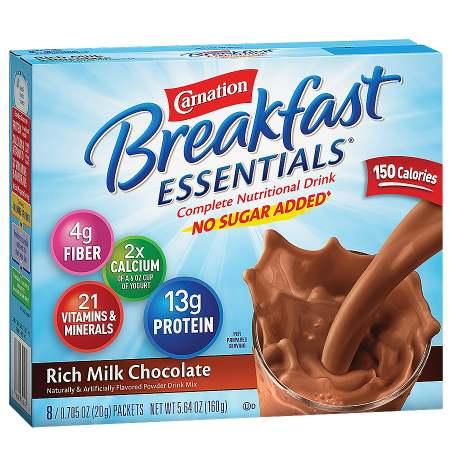 Complete Nutritional Drink, No Sugar Added, Packets Rich Milk Chocolate Complete Nutritional Drink, No Sugar Added, Packets Rich Milk Chocolate