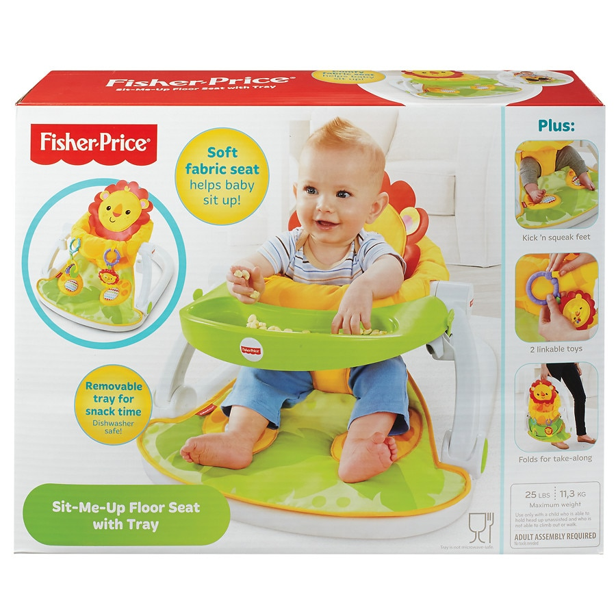 baby chairs to help sit up x rocker gaming chair cords fisher price me floor seat with tray walgreens tray1 0 ea