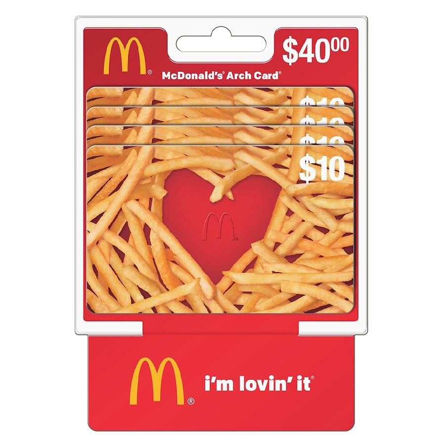 MCDONALDS 4 Pack 10 Gift Cards Walgreens