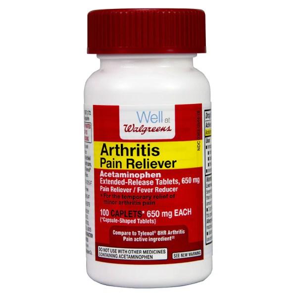 Walgreens Arthritis Pain Reliever Capsules 650 Mg