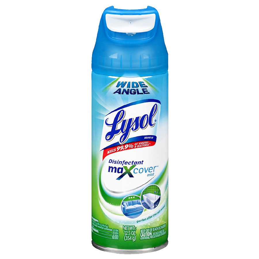 sofa disinfectant spray solid oak table mission style lysol max cover garden after rain walgreens rain12 5 oz