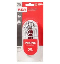 rca telephone cord 25 foot white1 0 ea [ 900 x 900 Pixel ]