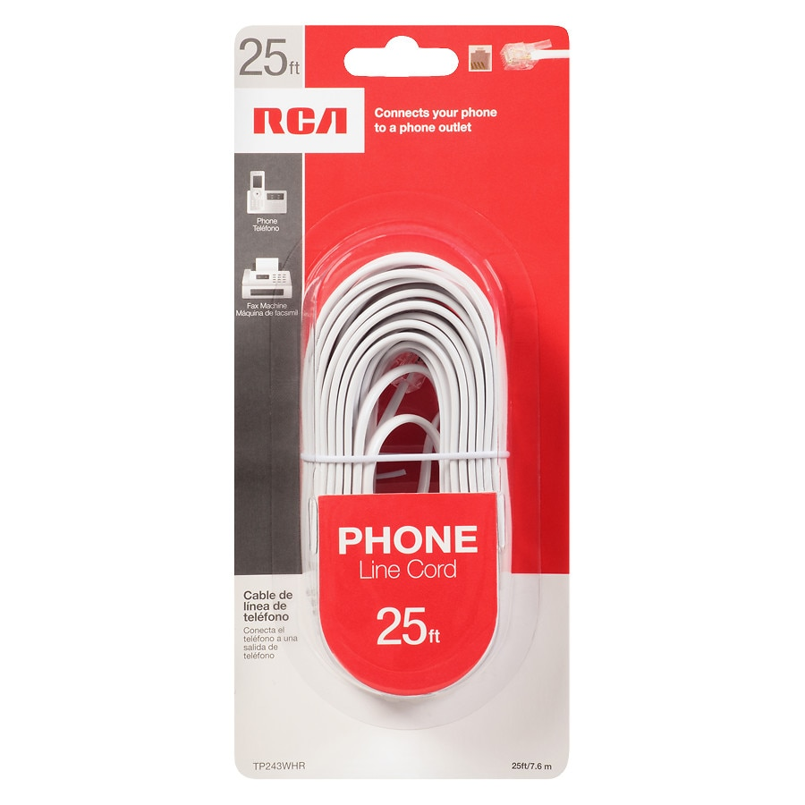 hight resolution of rca telephone cord 25 foot white1 0 ea