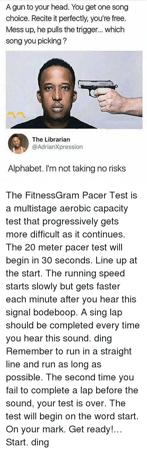 The Fitness Pacer Test Lyrics : fitness, pacer, lyrics, 🇲🇽, Memes, About, Fitnessgram, Pacer, Multistage, Aerobic, Capacity