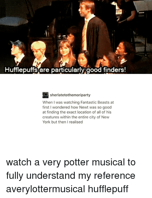 Hufflepuffs Are Particularly Good Finders : hufflepuffs, particularly, finders, Hufflepuffs, Particularly, Finders!, Sherlatetothemoriparty, Watching, Fantastic, Beasts, First, Wondered, Finding, Exact, Location, Creatures, Within