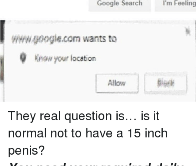 Google Memes And Google Search Is It Normal To Have A  Inch