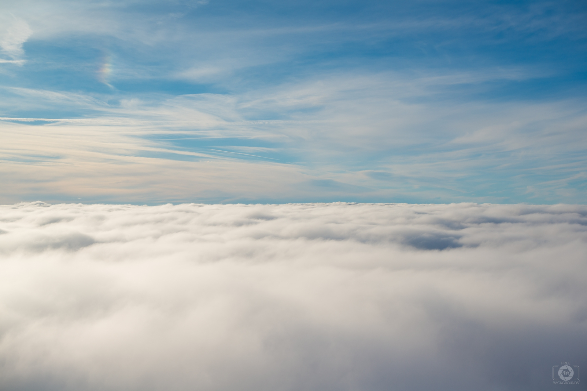 sky above clouds background