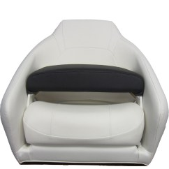 White Bucket Chair Ikea Cushion Larson Lx Boat New Low Back Captain Bolster
