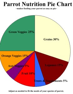 Parrot nutrition pie chart chow also rh chowvejournal