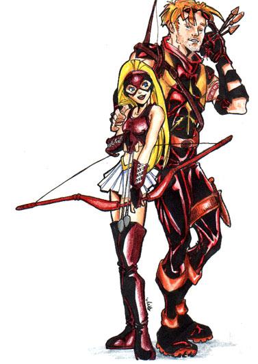 Teen Titans Cute Wallpaper Art Arrowette And Arsenal Remix Glockart Livejournal