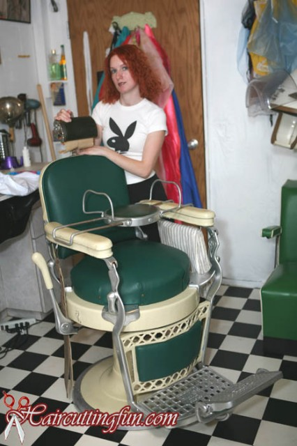 back stories of my barber chair and perm machine and more