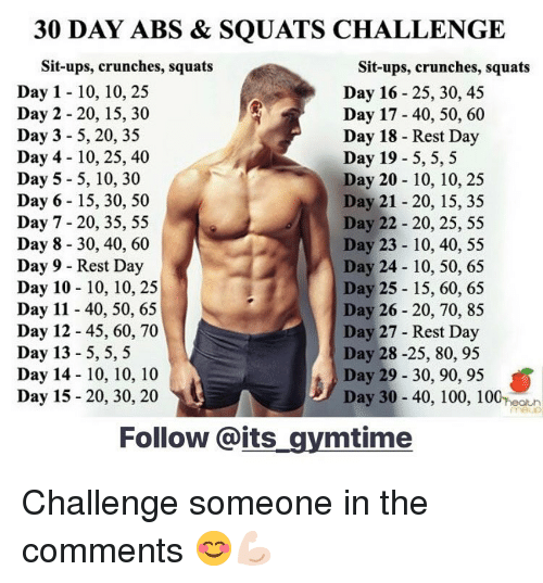 30 day abs squats