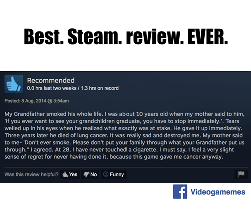 best steam review ever