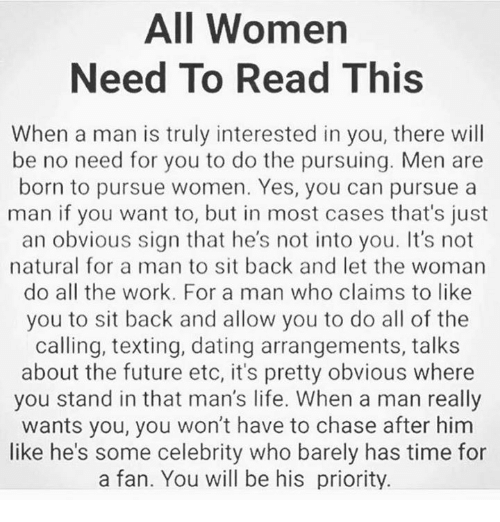 Dating Future And Life All Women Need To Read This When A Man