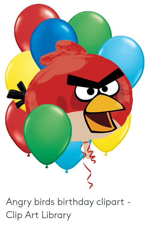 angry birds birthday clipart