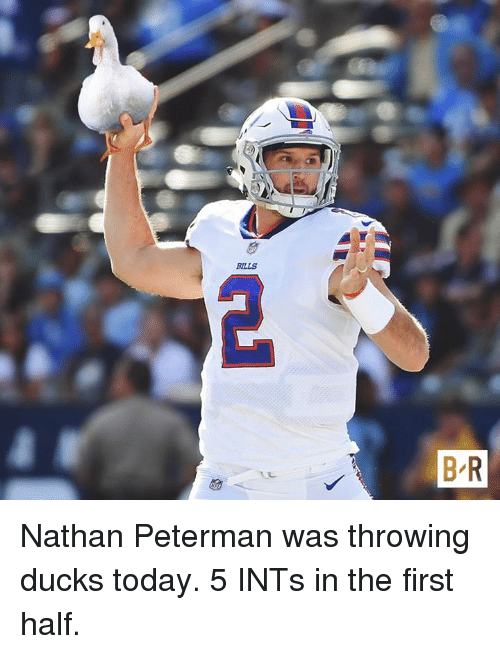 Nathan Peterman Memes : nathan, peterman, memes, BILLS, Nathan, Peterman, Throwing, Ducks, Today, First, ME.ME