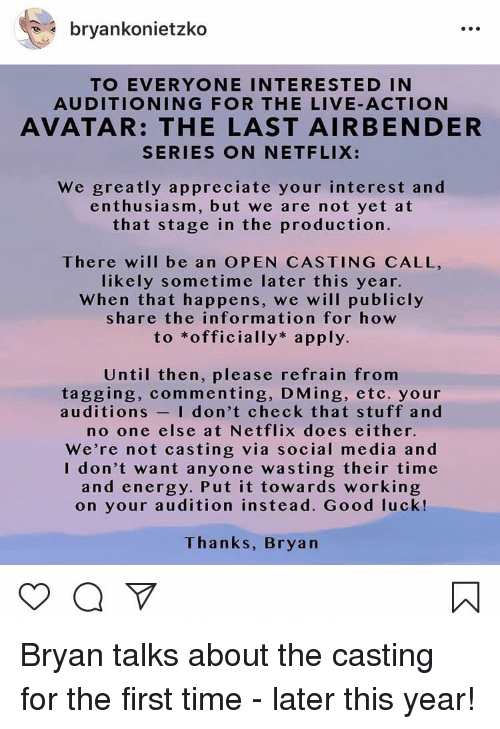Open Casting Has Begun For Aang in Netflix's 'Avatar: The