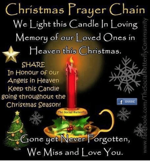 Download Christmas Prayer Chain We Light This Candle in Loving ...