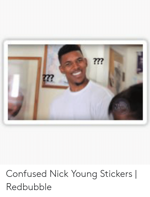 Confused Nick Young Png : confused, young, Confused, Young, Stickers, Redbubble, ME.ME