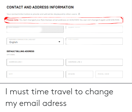 CONTACT AND ADDRESS INFORMATION Your Contact Information ...