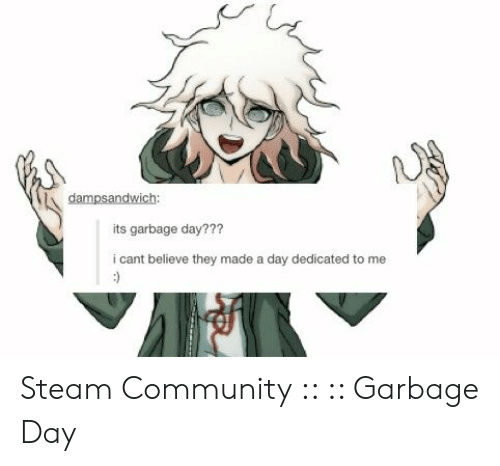 dampsandwich its garbage day