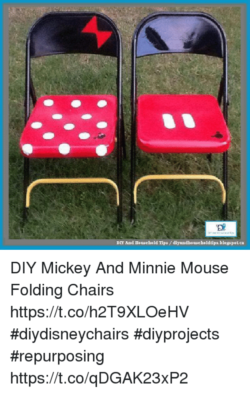 minnie mouse folding chair outdoor sling covers diy and household tips diyandbouseholdtipsblogspotca mickey memes blogspot diyandbouseholdtips