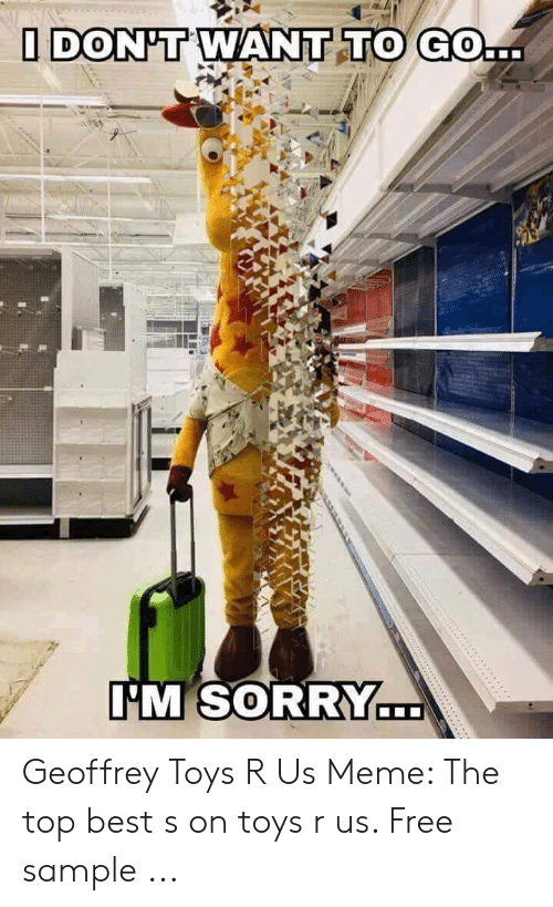 Toys R Us Meme : DON'T, SORRY, Geoffrey, Sample, ME.ME