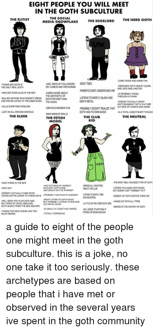 EIGHT PEOPLE YOU WILL MEET IN THE GOTH SUBCULTURE THE