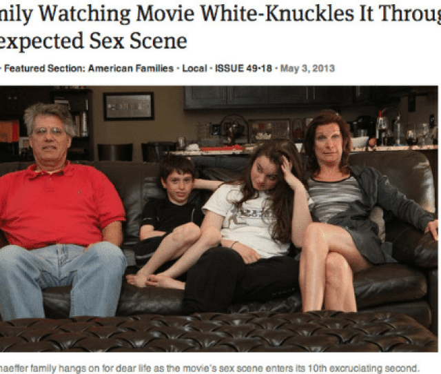 Family Life And Movies Family Watching Movie White Knuckles It Through Unexpected