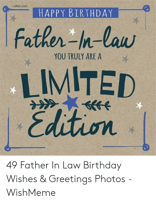 Father In Law Birthday Meme : father, birthday, Funny, Birthday, Memes, Father, Factory