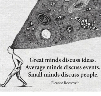 Image result for great minds discuss ideas