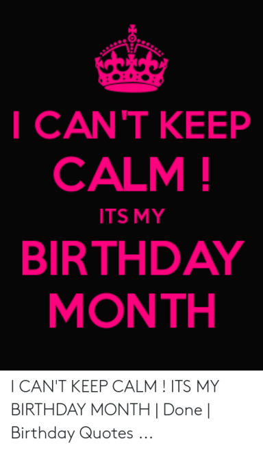 Its My Birthday Month Images