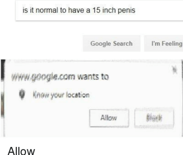 Google Google Search And Penis Is It Normal To Have A 15 Inch