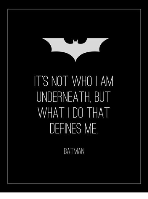 Why Do We Fall Bruce Wallpaper It S Not Who I Am Underneath But What I Do That Defines Me