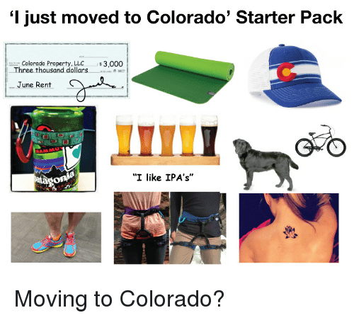 just moved to colorado