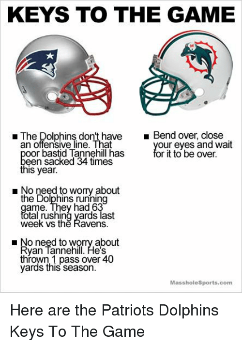Patriots Dolphins Meme : patriots, dolphins, Dolphins, Don't, Close, Offensive, Bastid, Tannehill, Sacked
