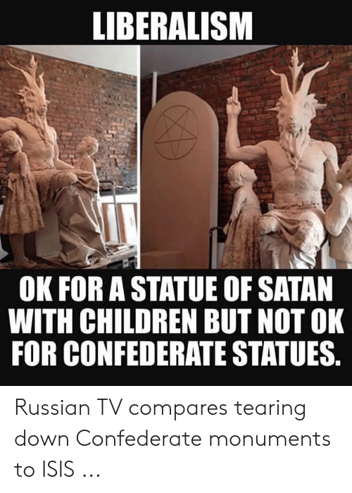 LIBERALISM OK FOR a STATUE OF SATAN WITH CHILDREN BUT NOT OK FOR ...