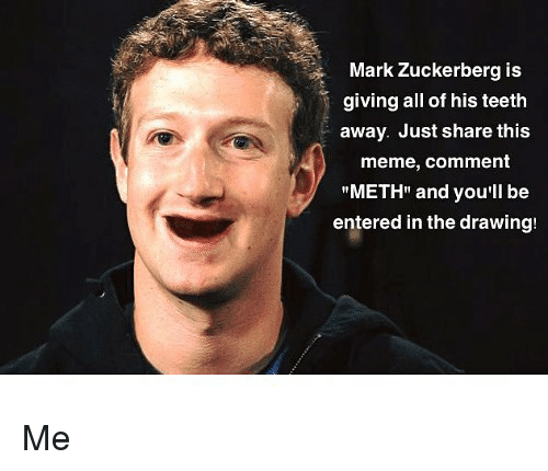 Mark Zuckerberg Is Giving All of His Teeth Away Just Share