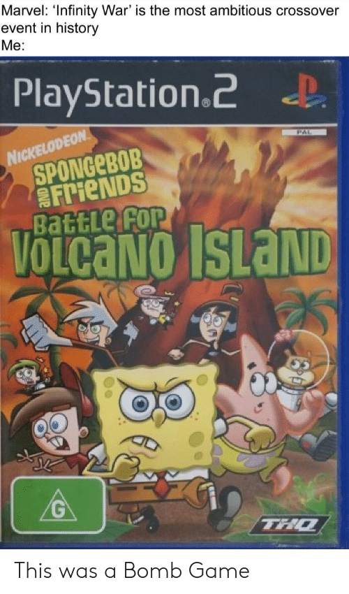 Nickelodeon Infinity Island Game : nickelodeon, infinity, island, Marvel, 'Infinity, Ambitious, Crossover, Event, History, PlayStation2, NICKELODEON, SPONGEBOB, FrieNDS, BattLe, VOLCANO, ISLAND, Friends