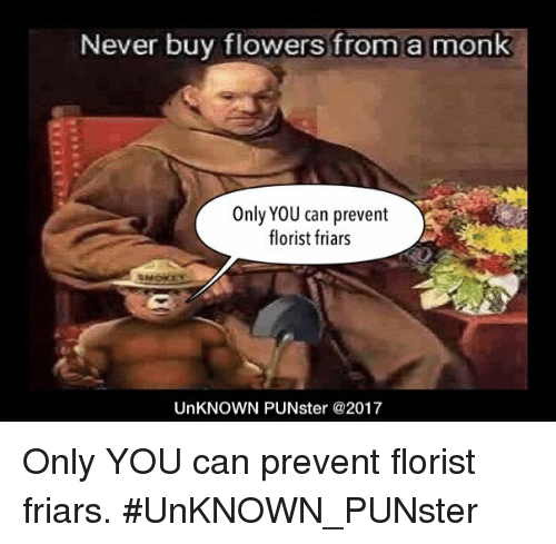 never buy flowers from