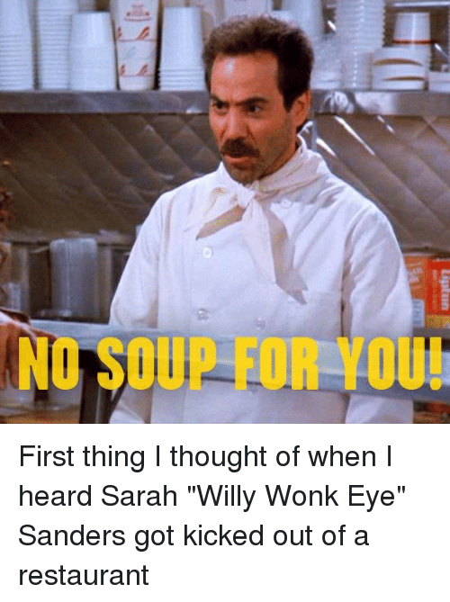 Find and follow posts tagged NO-SOUP-FOR-YOU on Tumblr