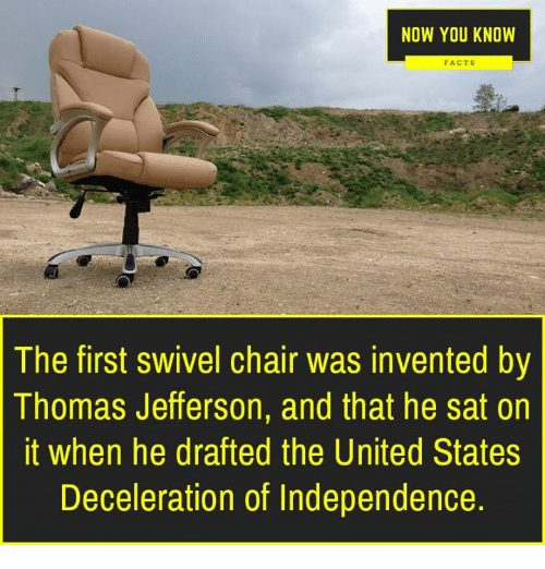 swivel chair in spanish best beach ever now you know facts the first was invented by thomas memes and jefferson
