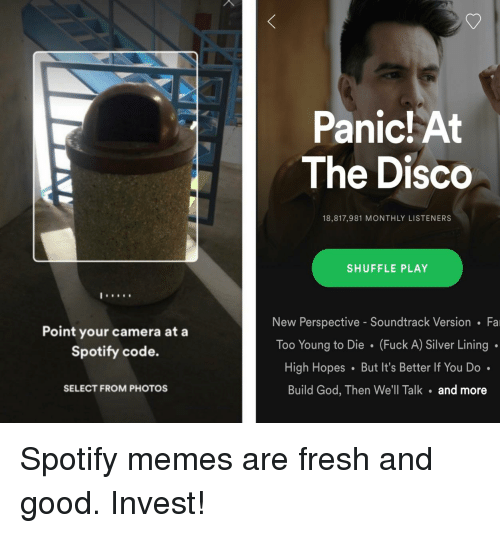 Panic At The Disco 18817981 Monthly Listeners Shuffle Play